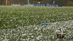 Wedstrijd tegen Tunesië ruim drie kwartier stilgelegd door zware hagelstorm