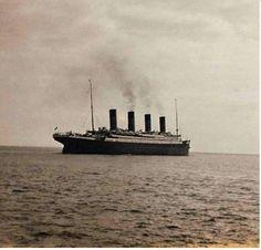 Laatst bekende foto van Titanic, voor deze zonk.