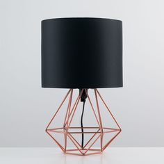 Geo Belly Table Lamp Copper