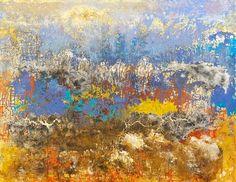Reidar Särestöniemi, 1959-1967: Usvakalliot. Oil on canvas. 94x123 cm.