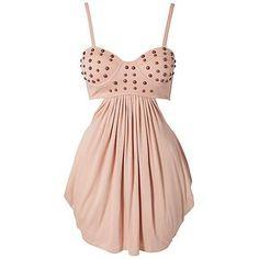 studded bustier dress