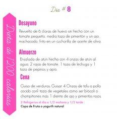 Día 8 - Dieta Para Mujeres de 1200 Calorías Para Perder Peso