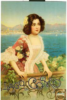 Vintage Italian Posters ~ #illustrator #Italian #posters ~ Lake Como
