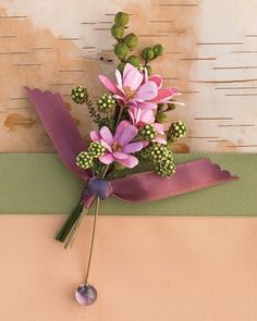 Boutonniere with Sunflower-Seed Shells