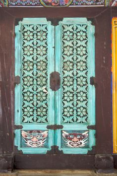 Temple doors, South Korea