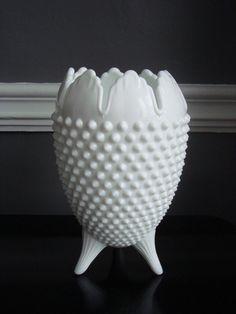 Love this piece!!  Fenton Hobnail Egg Milk Glass Vase: A truly rare find! #RelishDecor #decor #vintage