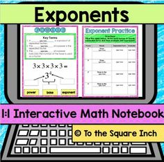 Exponents 1:1 Interactive Math NotebookAre you looking for a way to engage your math students in a 1:1 device environment? Check out my line of 1:1 Interactive Math Notebooks! Included in this product: -Powers Notes-Powers Practice Chart-Exponent Practice Page-Exponent Double Dice Activity -Answer Keys*Please note that the download includes a link to the product and a tutorial for teacher use.