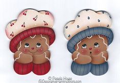 The Decorative Painting Store: Ginger with Hat Ornament Blanks, Surfaces for Pamela House Patterns