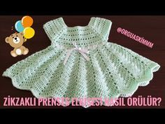 Captivating Crochet a Bodycon Dress Top Ideas. Dazzling Crochet a Bodycon Dress Top Ideas. Baby Afghan Crochet, Easter Crochet, Crochet Baby Booties, Kawaii Crochet, Knit Baby Dress, Crochet Girls, Girl With Hat, Baby Knitting, Free Pattern