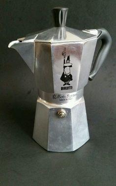 Bialetti Moka Express 6 Cup Espresso Stovetop Coffee Maker Camp Dorm Italy #Bialetti