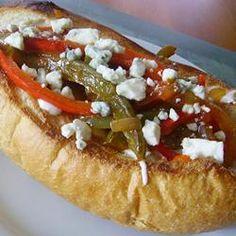 Buffalo Chicken Sausage and Pepper Sandwich Allrecipes.com
