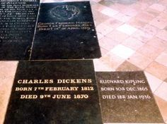 Poets' Corner in Westminster Abbey meant walking on history -- Charles Dickens and Rudyard Kipling's graves in this photo. Horn, Famous Graves, Six Feet Under, Dream Book, London Museums, Poetic Justice, If Rudyard Kipling, Westminster Abbey, British History