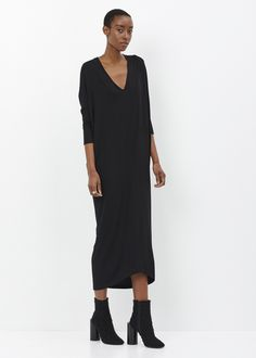 Zero + Maria Cornejo Long Sleeve Koya Dress (Black)