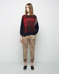 Band of Outsiders / Slouchy Patchwork Chino