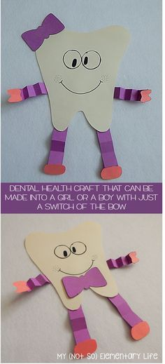 """Dental Health Unit and craft.packed full of posters, readers, """"big"""" books feat. - Dental Health Unit and craft…packed full of posters, readers, """"big"""" books featuring real life - Daycare Crafts, Toddler Crafts, Preschool Lessons, Preschool Activities, Space Activities, Dental Health Month, Health Unit, Kids Health, Health Activities"""