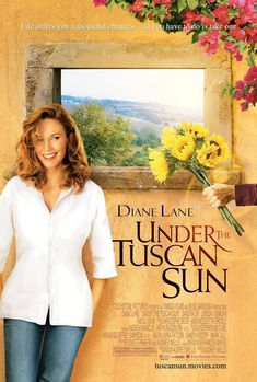 Under the Tuscan Sun. 2003: If only we could run away to Italy when our lives run off the tracks.... That's exactly what Diane Lane does in the film version of Frances Mayes' memoir, after learning of her husband's affair. If you're in need of a getaway—real, or just the two-hour movie types—pop in this flick, discover the beauty of Tuscany and prepare for a case of wanderlust.