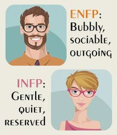 INFP vs. ENFP - really insightful, in depth article, accurately depicts difference and similarities between the two types