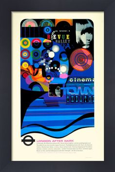 London after dark, 1968 Art Print by Fred Millett at King & McGaw