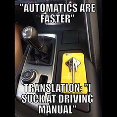 Corvette Meme - Automatics are faster.