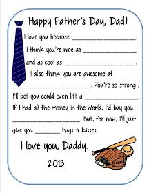 Father's Day Survey Printable for 2013... couldn't print from website, but easy to download as PDF