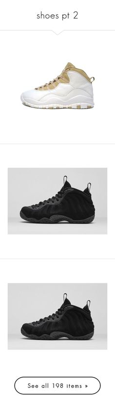 """""""shoes pt 2"""" by issaxmonea ❤ liked on Polyvore featuring shoes, sneakers, jordans, air jordan, nike sneakers, nike, nike trainers, hi tops, nike high tops and wing shoes"""