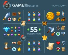 Game Items Pack #1 by AhNinniah on @creativemarket