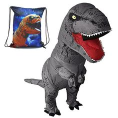 Good Adult T-rex Inflatable Costume Christmas Cosplay Dinosaur Animal Jumpsuit Halloween Costume For Women Men To Win Warm Praise From Customers Costume Props