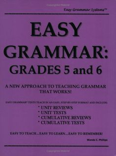 Easy Grammar: Grades 5 & 6 (teacher's edition) (Wanda C. Phillips) | New and Used Books from Thrift Books