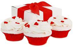 Fizzy Baker Valentine Cupcake Trio Gift Box