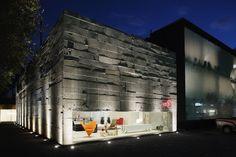 Fachada rústica direta no concreto