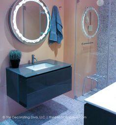 Glamorous & Modern Bathroom Design   The Decorating Diva, LLC