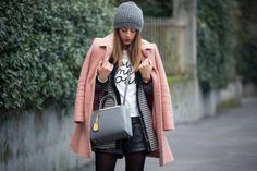 2014 Short: Zara/Bag: Fendi /T-Shirt: Sheinside/Coat: Moschino/Shoes: Roger Viver