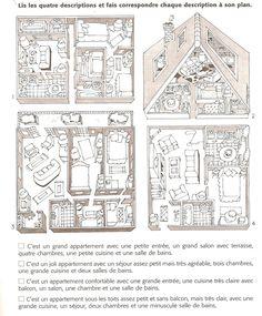 Un dibujo ideal para la leccion de la casa y los muebles.