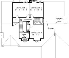 traditional house plan 49866 traditional house plans and the laundry - 3 Bedroom House Plans With Rec Room
