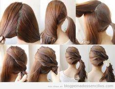 Tutorial paso a paso, peinado sencillo, coleta a un lado