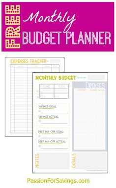 Free Monthly Budget Planner! Perfect for the New Year! Start your Budget off right!