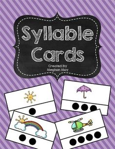 A great center idea for children to practice syllables independently.
