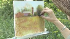 Enjoying the summer season? Venture outside and try these quick pastel painting tips to create a rustic landscape. #pastelpainting #ArtistsNetwork