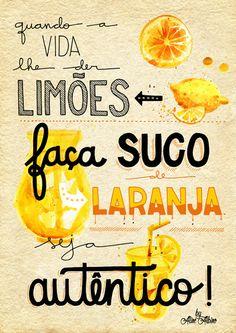 poster - Faça suco de laranja