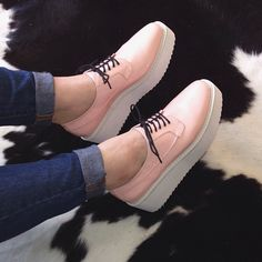 The 'Selfie' platform oxfords by YES. Shop them here: http://www.solestruck.com/yes-selfie-pink/index.html Actually love these!