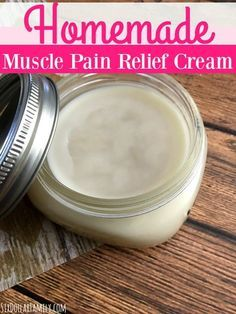 "How to make homemade ""Bengay"" - Sore muscles or joints? This homemade muscle pain relief cream is exactly what you need! All natural and works so much better than the commercial stuff!"