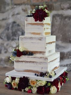 Square semi naked cake on a floral cake stand. Square semi naked cake on a floral cake stand. Wedding Cake Images, Square Wedding Cakes, Wedding Cake Stands, Wedding Cake Rustic, Square Cakes, Elegant Wedding Cakes, Cool Wedding Cakes, Beautiful Wedding Cakes, Wedding Cake Designs