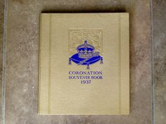 Coronation Souvenir Book 1937 of King George by QueensParkVintage