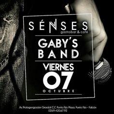 Hoy Viernes podrás pasar una noche de buena música con @gabysbanda. En el nuevo ambiente de @sensesgastrobar hace tus días divertidos con musica en vivo y promociones en tragos y tapas. Te esperamos!  #senses #gastrobar #food #foodie #puntofijo #falcon #venezuela #chef