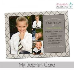 Cute Baptism Invitation Template