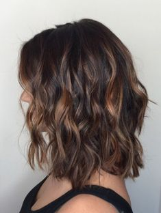 Balayage on Short Dark Hair