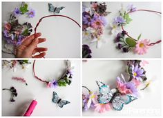 Fairy flower crown collage