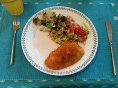 Escalope with salad