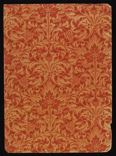 'Milan' #foliate #wallpaper by Lewis Foreman Day, England, ca. 1887-1900 l Victoria and Albert Museum