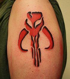 Boba Fett's Mythosaur Skull Tattoo